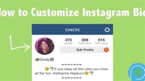 how to customize instagram bio for iphones youtube