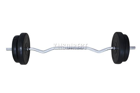 best barbell to buy foxhunter curl bar barbell set weight lifting triceps