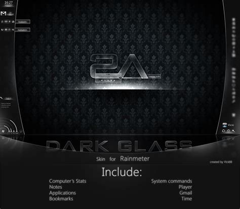 themes in black rain mod dark glass for rainmeter by vick88 on deviantart
