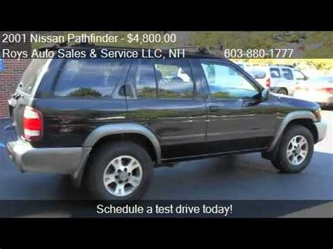 roy s auto sales 2001 nissan pathfinder se 4wd 4dr suv for sale in hudson