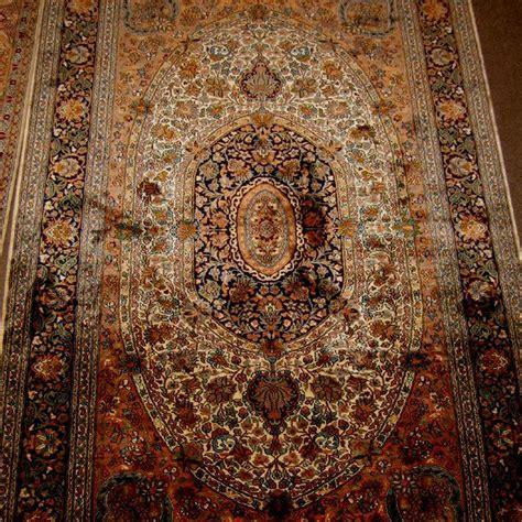 kashmir silk carpet from india silk carpets of