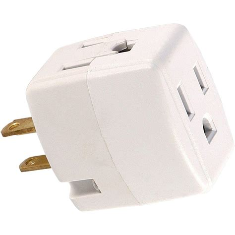 Gift Ideas For Kitchen ge 3 outlet grounded cube design adapter white 58368