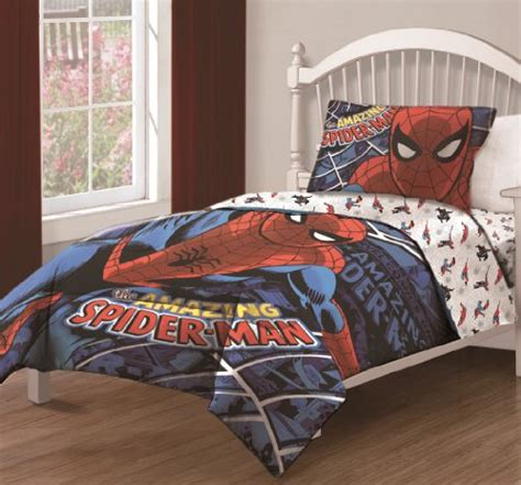 fitted comforter twin 3pcs marvel the amazing spiderman spidey webs bedding