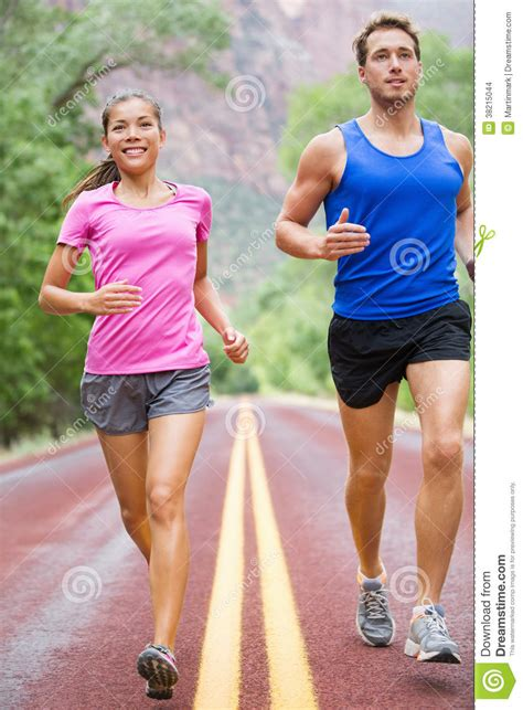 From To Running by Running Two Runners Stock Images Image