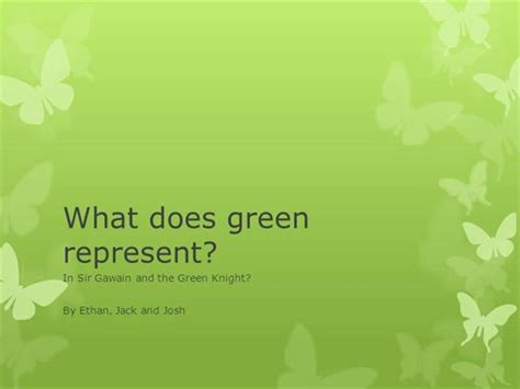 what does the color green represent what does green represent authorstream