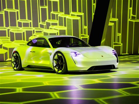 porsche electric mission e porsche mission e all electric car pictures facts