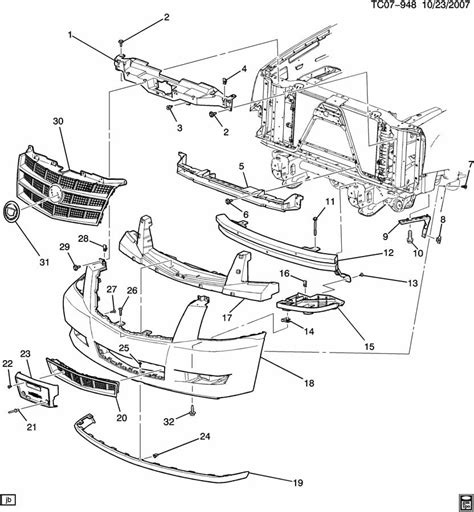 gm cadillac parts bumper front