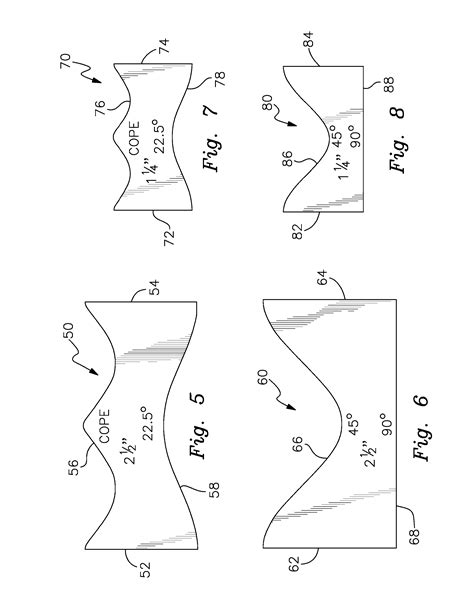 pipe saddle template patent us8296959 self retaining pipe cutting template