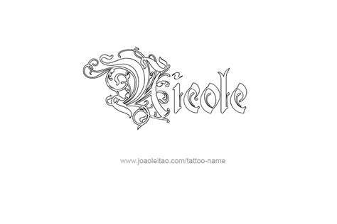 nicole tattoo designs name designs