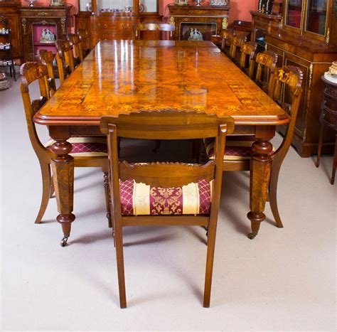 victorian dining room sets victorian style marquetry dining table and 12 chairs for