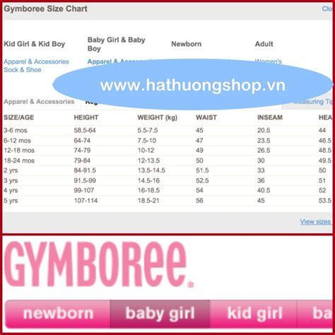 shoe size chart gymboree gymboree size chart girls clothing size charts common