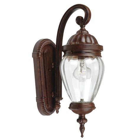 Portfolio Outdoor Lighting Portfolio Antique Rust Outdoor Wall Light Lowe S Canada