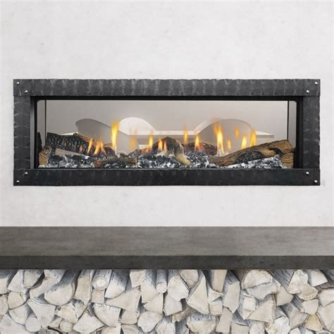 heat glo mezzo see through gas fireplace encino