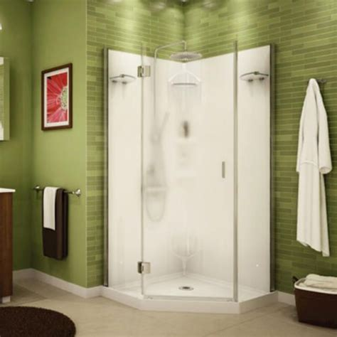Corner Shower Stalls Menards by Maax 174 Daylight 36 Quot Neo Angle Shower Kit Center Blur