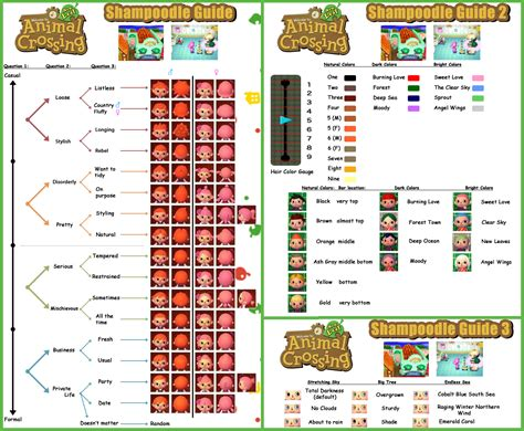 hairstyle guide in animal crossing new leaf guide to shoodle animal crossing new leaf