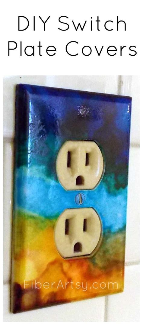 diy light switch covers diy switch plates with alcohol ink how to paint light