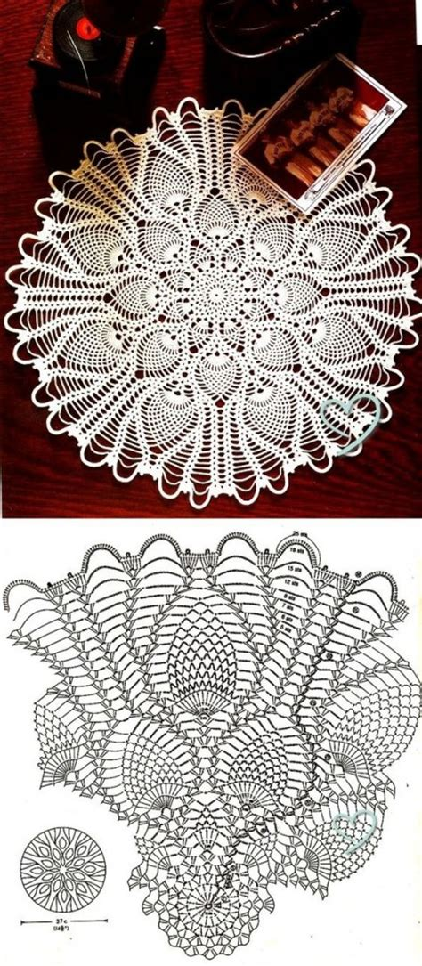 Large Pattern Curtains by Round Pineapple Doily Diagram Crochet Kingdom
