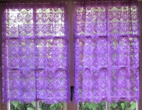 lavender window curtains lilac lavender violet kitchen curtains french lace window