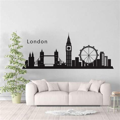 London Wall Art Stickers london skyline city silhouette vinyl wall art decal