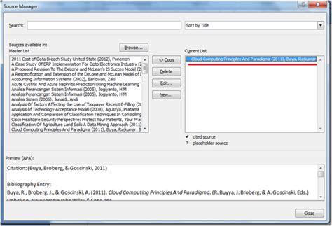 membuat daftar pustaka otomatis pada word membuat sitasi dan daftar pustaka otomatis menggunakan ms