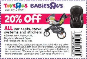 Car Seat Discount Code Save 20 On Strollers And Car Seats At Toys R Us And
