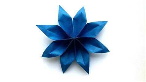 8 Petal Flower Origami - origami natureplus a plant with flowers of and petals and