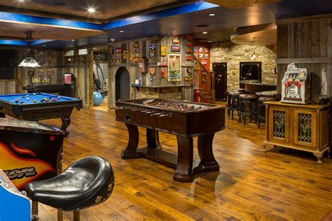 Basement Remodeling by Game And Entertainment Rooms Featuring Witty Design Ideas