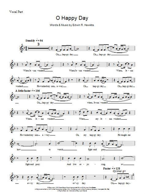 day songs oh happy day sheet direct