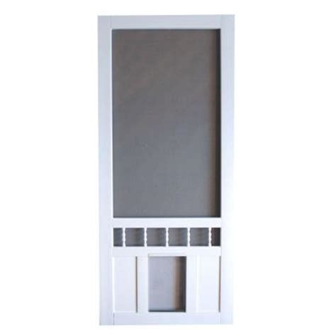 screen tight southport 36 in vinyl white pet screen door