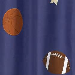sports themed shower curtains jojo designs playball sports balls kids blue boys fabric