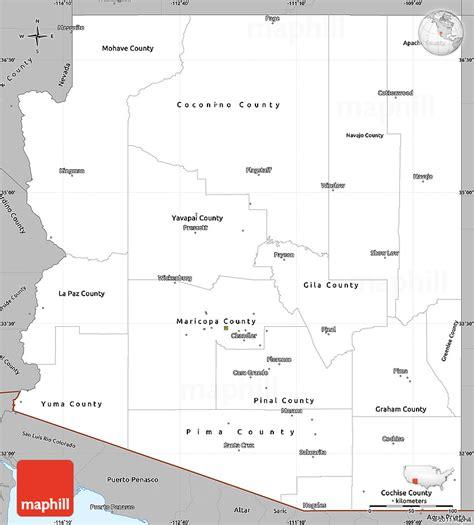 united states map arizona gray simple map of arizona