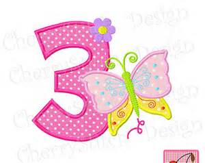 Number 3 birthday etsy