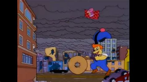the simpsons treehouse of horror 12 image lard lad uses his donut and the kbbl antennae to