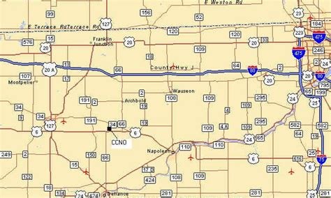 map of ohio turnpike directions to ccno