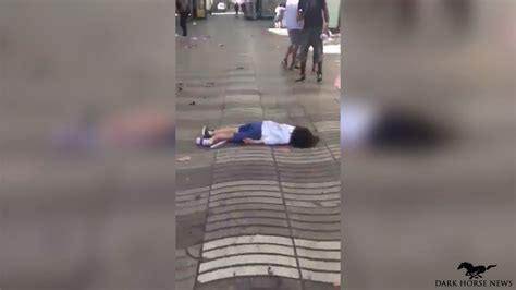 barcelona attack videos show aftermath of barcelona terror attack warning