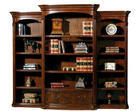 library wall units bookcase bookcase wall old world by hekman he 79164 set