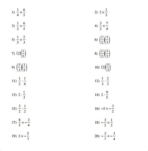 multiplying fractions using cards template 14 multiplying fractions worksheets to for free