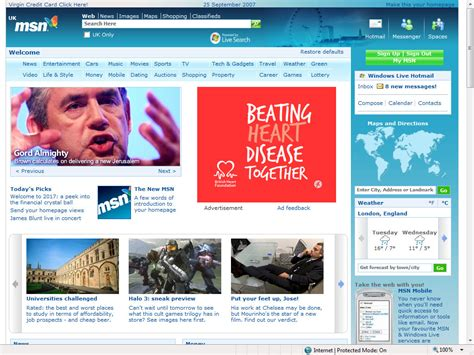 new msn uk homepage redesign 2007