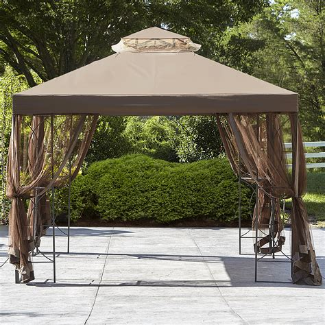 gazebo 10x10 essential garden replacement canopy for 10x10 callaway gazebo