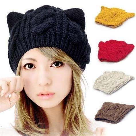www gorros tejidos en lana para niosynias orejas de gato gorras lindos gorros pinterest