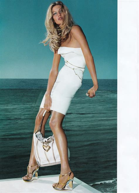 Fab Ad Gisele Bundchen For Versace by Kate Moss And Gisele Bundchen In Versace S