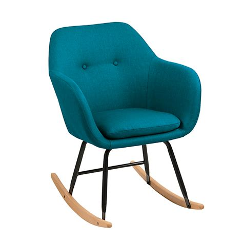 fauteuil ikea a bascule fauteuil 224 bascule en tissu bleu p 233 trole emilia salon