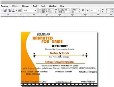 tutorial corel draw sertifikat tutorial design sertifikat menggunakan corel draw banten