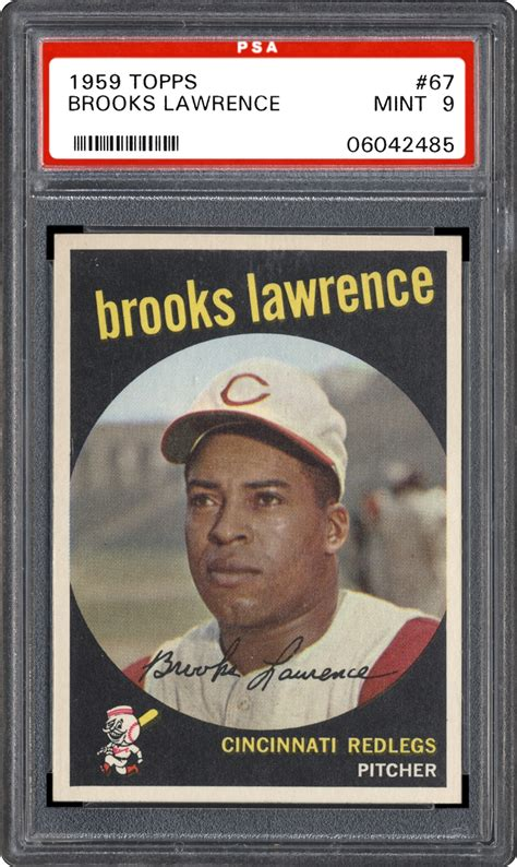 1959 Topps Brooks Lawrence Psa Cardfacts