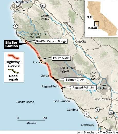 Big Sur Pch Closed - ca hwy 1 closed near big sur until summer 2018 construction updates only