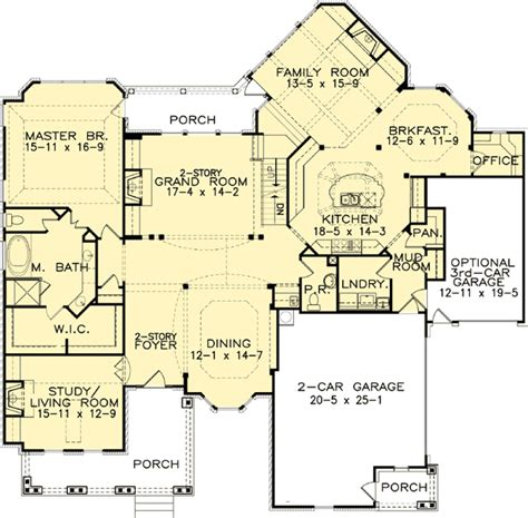 classic floor plans plan 15608ge master down classic house plan