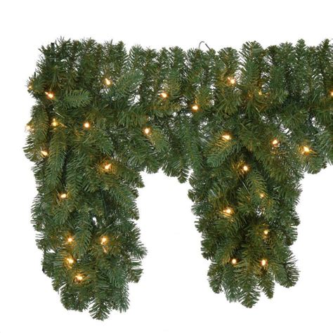 6 ft pre lit fairwood artificial christmas mantle garland