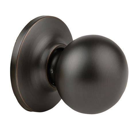 Rubbed Bronze Dummy Door Knob by Shop Yale Security New Traditions Cirrus Rubbed Bronze