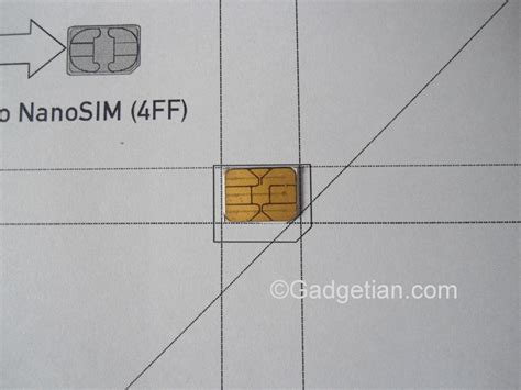 iphone 5 sim card size template how to easily convert or cut sim card to nano sim for