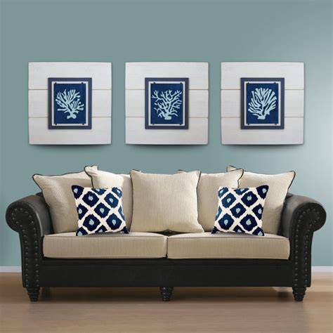 Wall Decor Sets by Sale Coral Wall Set Of 3 White Framed 8x10 Xtra